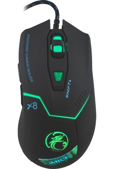 MF Product Strike 0609 Işıklı Kablolu Gaming Mouse Siyah