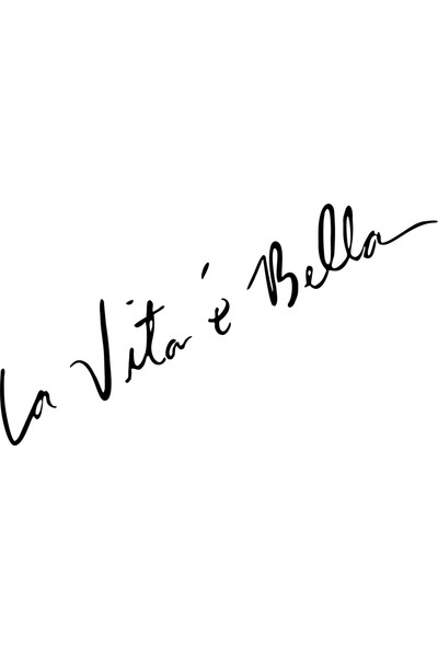 Quart Hayat Güzeldir, La Vita E Bella Araba Sticker, Oto Cam Sticker