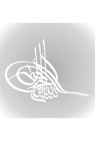 Quart Osmanlı Tuğrası Oto Sticker, Araba Cam Sticker