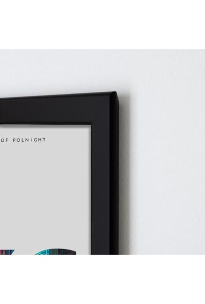Polnight Hkg Şehirler Duvar Dekorasyon Dijital Baskı Tablo Mdf Siyah Çerçeve Poster