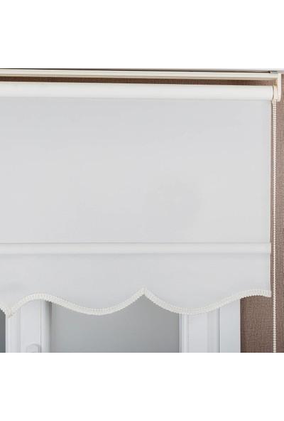 Babacan Brillant Stor Beyaz Etek Dilimli 50 x 200 cm