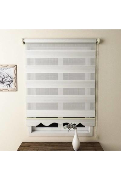 Babacan Brillant Pliseli Ekru Etek Dilimli 50 x 200 cm
