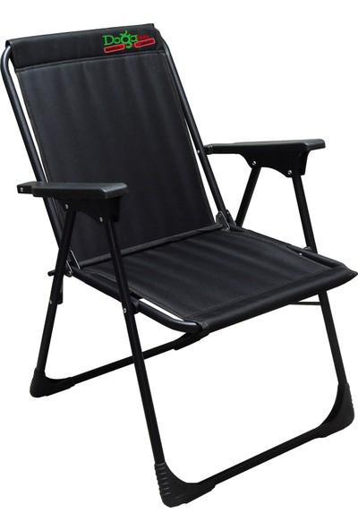 Leva Dogahomes Lüks Katlanır Kamp,plaj,piknik Sandalyesi -Siyah