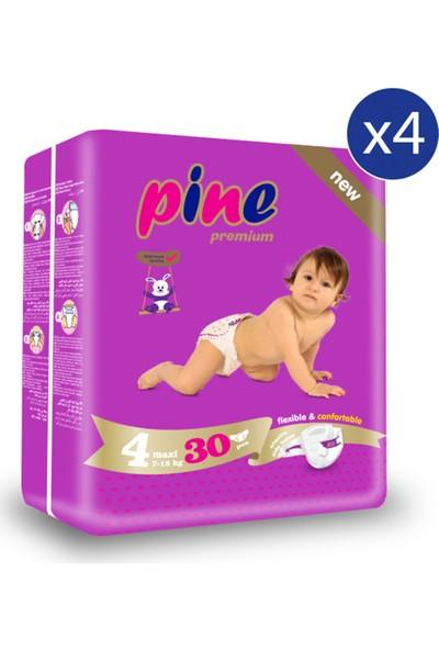 Pine Maxi (7-18 kg ) Ikiz Paket 120 Adet Bebek Bezi