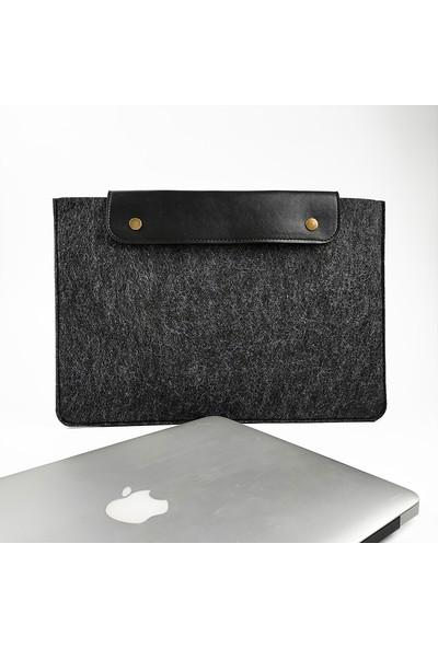 """Misingpiece Deri Kapaklı Keçe 13"""" MACBOOK ve Laptop Kılıfı"""
