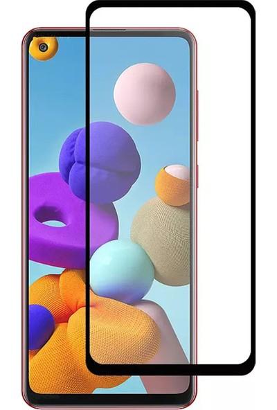 CepStok Samsung Galaxy A21S Kırılmaz Cam 5d Tam Kaplayan Temperli Ekran Koruyucu