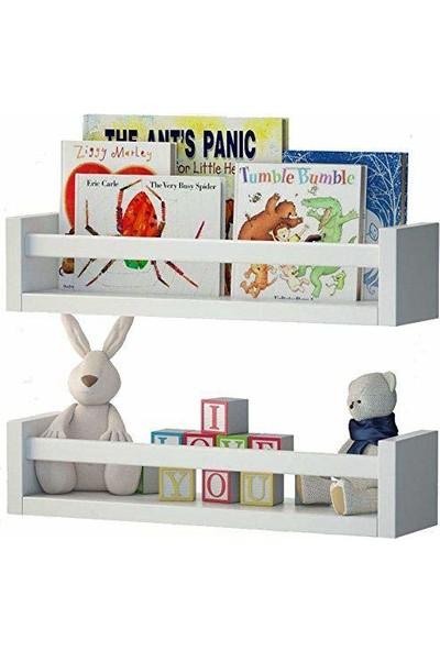 Decomira Çocuk Odası Eğitici Kitaplık 2'li Duvar Raf Set