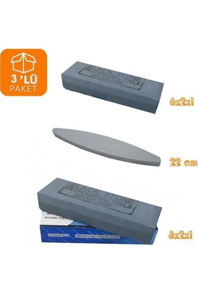 Black Stone Bıçak Balta Keser Bileme Taşı Tüm Ölçüler 3'lü Paket