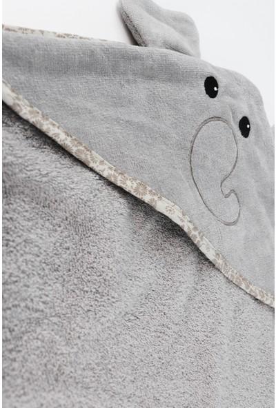 Ephemeris Soft Pamuk 80 x 80 cm Havlu Bebek Panço - Fil Gri