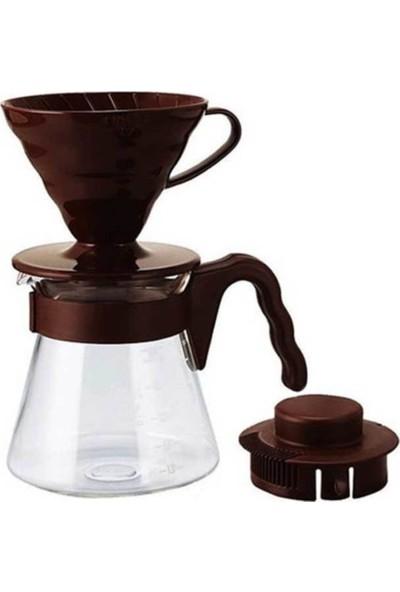 Hario V60 Kahve Demleme Seti (Kahverengi)