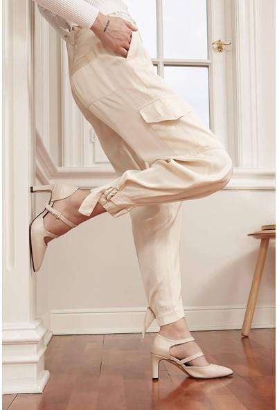Mio Gusto Alegra Kadın Çift Bantlı Topuklu Ayakkabı