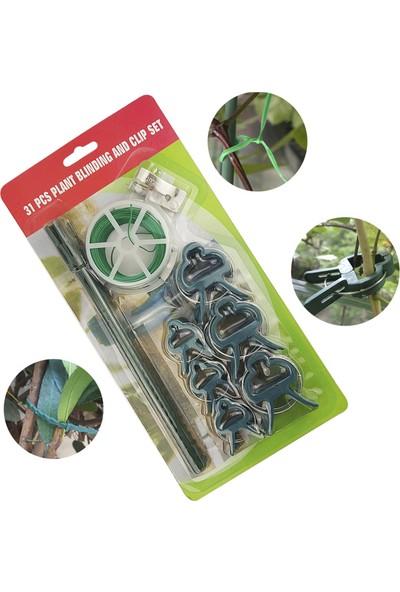 Buyfun 31'li Bitki Aşılama Sabit Alet Seti 65.6ft Bahçe