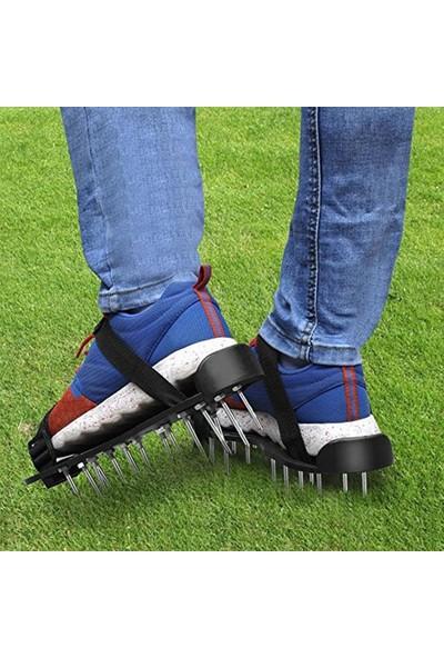 Buyfun Çim Havalandırıcı Ayakkabıları Bahçe Toprağını Havalandırma