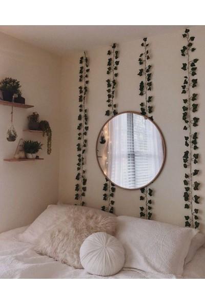 Anka Feniks Dekoratif Küçük Yeşil Yapraklı Yapay Sarmaşık 230 cm 4 Adet