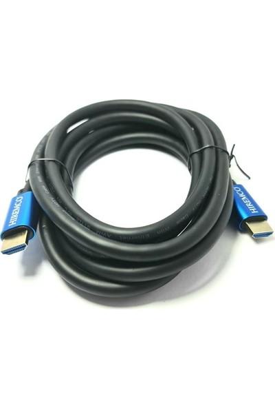 Hiremco 4K Ultra Hd 3metre HDMI Kablo