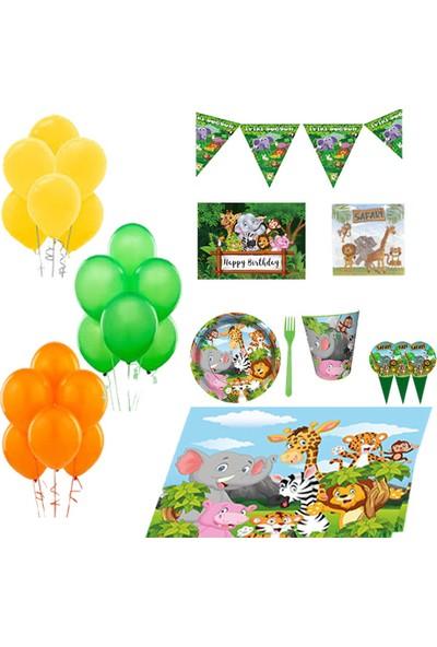 Partylandtr Safari Sevimli Hayvanlar 8 Kişilik Doğum Günü Parti Seti