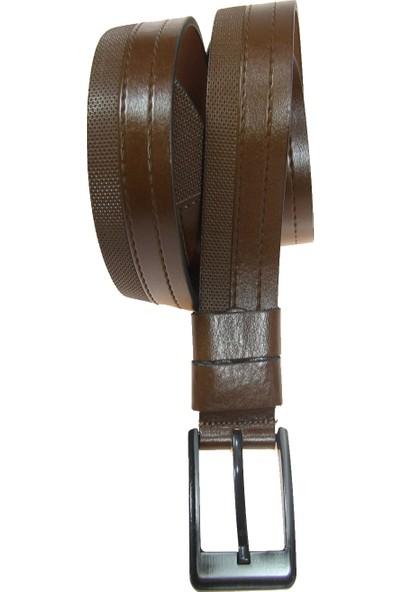 Ysk Şeritli Deri 4,5 cm Erkek Spor Kemer