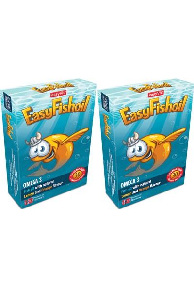 Easyvi̇t Easyfishoil Kids Çiğnenebilir 30 Jel Tablet 2'li Paket