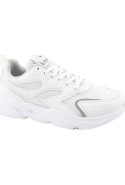 Liger 3210 Kadın Spor Ayakkabı-Beyaz