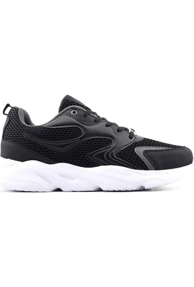 Liger 3019 Erkek Spor Ayakkabı-Siyah Beyaz