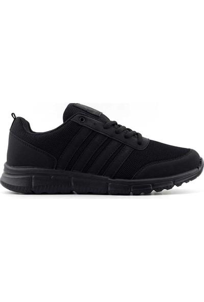 Liger 3030 Erkek Spor Ayakkabı-Siyah Siyah