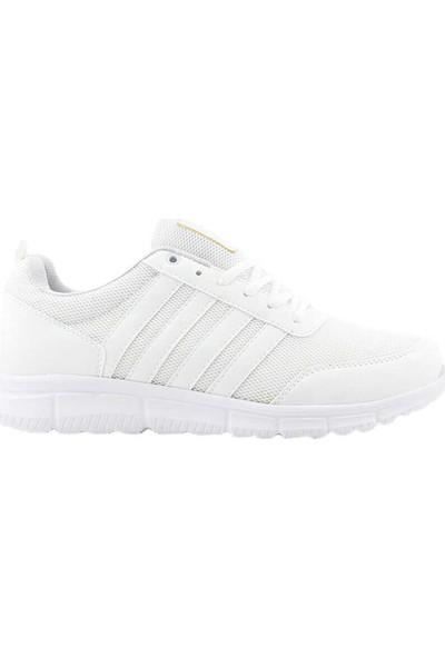 Liger 3030 Erkek Spor Ayakkabı-Beyaz Beyaz