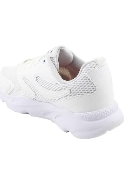 Liger 3019 Erkek Spor Ayakkabı-Beyaz Beyaz