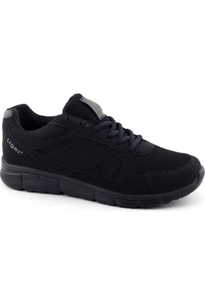 Liger 3010 Erkek Spor Ayakkabı-Siyah Siyah