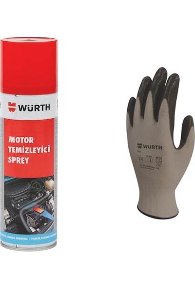 Würth Motor Temizleyici Spreyi + Eldiven