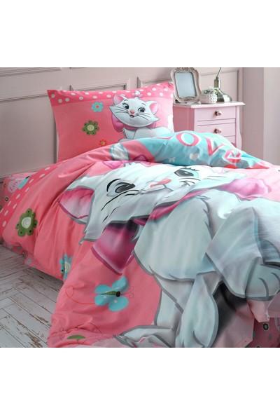 Cotton Touch Sweet Cat Ranforce Tek Kişilik Nevresim Takımı