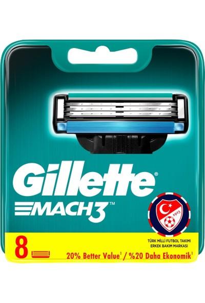 Gillette Mach3 Yedek Tıraş Bıçağı 8'li