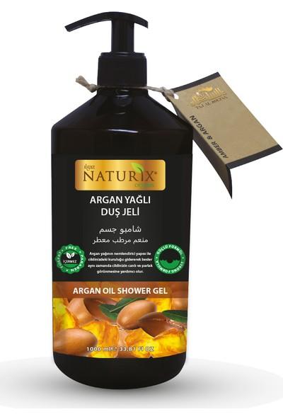 Naturix Organik Argan Yağlı Duş Jeli 1000 ml Paraben Fosfat Içermez Büyük Boy Nemlendirici Duş Jeli