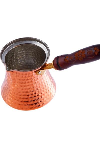 Karaca Antik Bakır Cezve - S