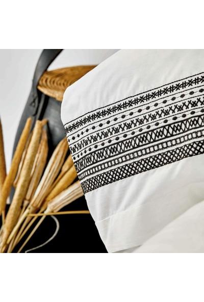 Karaca Home Adoma Siyah Pamuk Nakışlı Çift Kişilik Nevresim Takımı