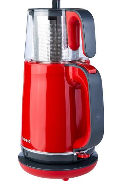 Homend Royaltea 1731H Plastik Gövdeli Çelik Demlikli Çay Makinesi