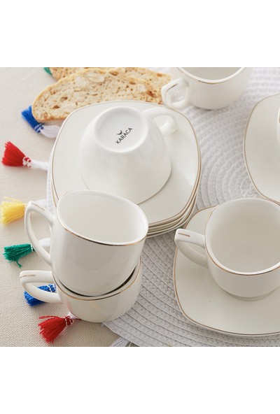 Karaca Nina 6 Kişilik Kahve Fincan Takımı