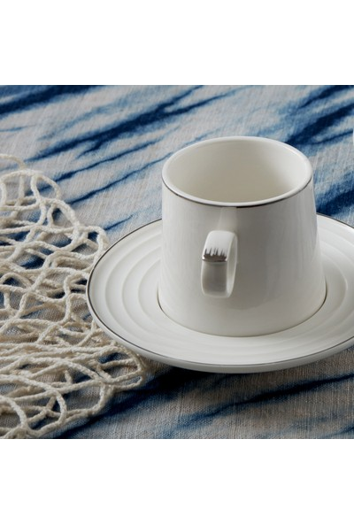 Karaca Tiryaki Platin 2 Kişilik Double Kahve Fincan Takımı