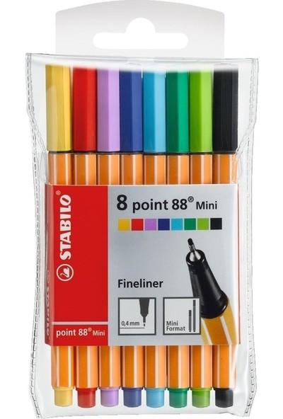 Stabilo Point 88 Fineliner Mini Kalem Seti 8'li