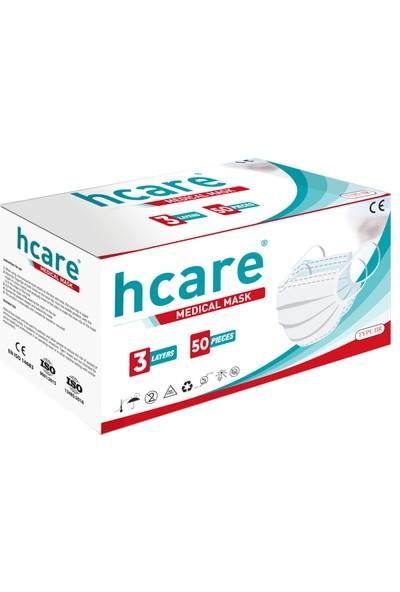 Hcare - Type Iır - 3 Katlı Cerrahi Maske 50'li