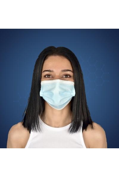 Hcare - Type Iır - 3 Katlı 850'LI Açık Mavi Renkli Cerrahi Maske