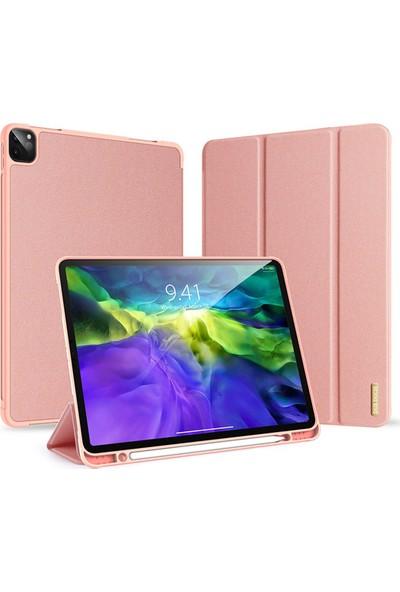 """Haweel Apple iPad Pro 11"""" 2020 (2.nesil) Kalem Yuvalı Standlı Mıknatıslı Kılıf Pembe"""
