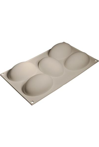Cesil Yumurta Şekilli Silikon Pasta Kalıbı 5'li
