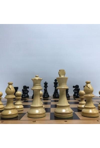 "Yeni Satranç French Staunton 3.75"" - Ahşap Zemin"