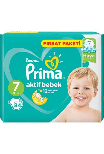 Prima Bebek Bezi Aktif Bebek Fırsat Paketi 7 Beden 34'lü