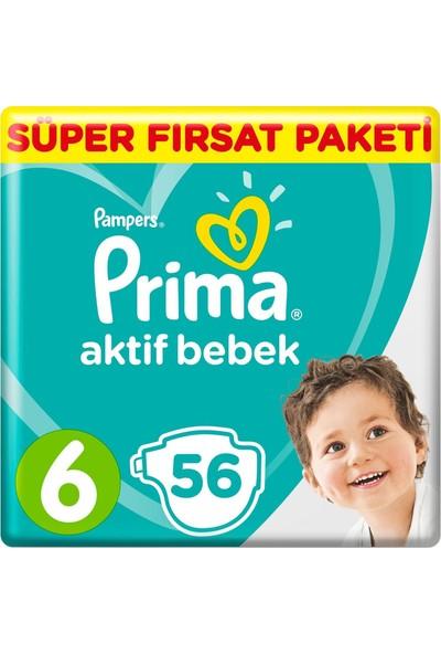 Prima Bebek Bezi Aktif Bebek Mega Fırsat Paketi 6 Beden 56'lı