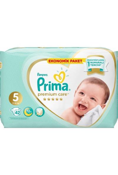 Prima Premium Care Bebek Bezi Ekonomik Paket 5 Beden 42'li