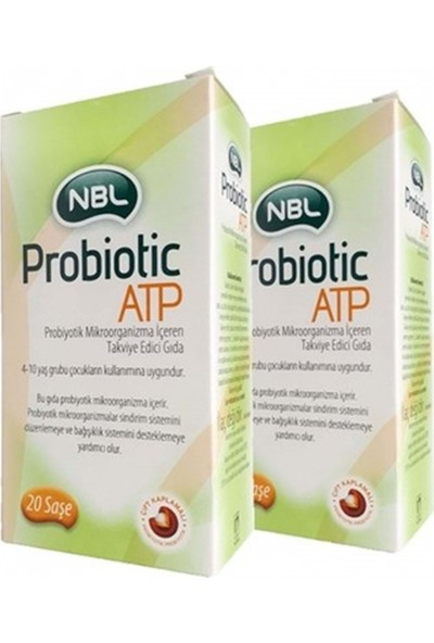 Nbl Probiotic Atp Takviye Edici Gıda 10 Toz Saşe (Her Kutu) 2 Adet