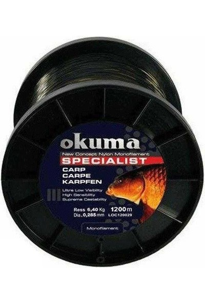 Okuma Carp 1200 mt 10.00 Lb 4.56 kg 0.26 mm Camou Misina