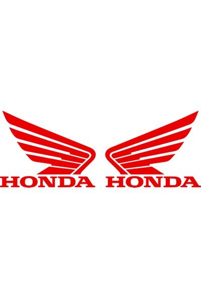 Quart 2'li Honda Kanat Sticker Kask, Motorsiklet, Oto Sticker