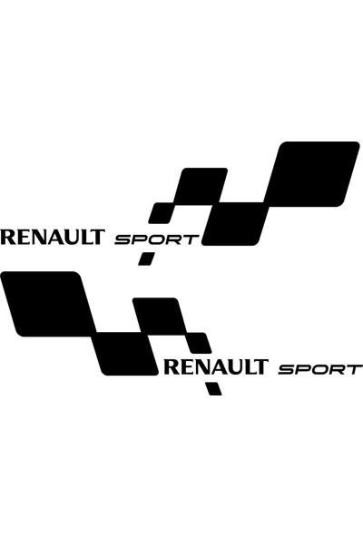 Quart 2'li Renault Sport Sticker, Araba Sticker, Oto Sticker